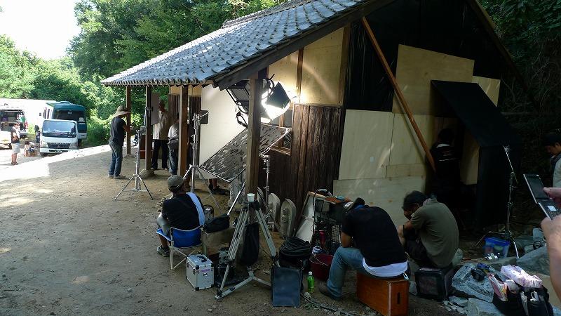 源二郎小屋での撮影