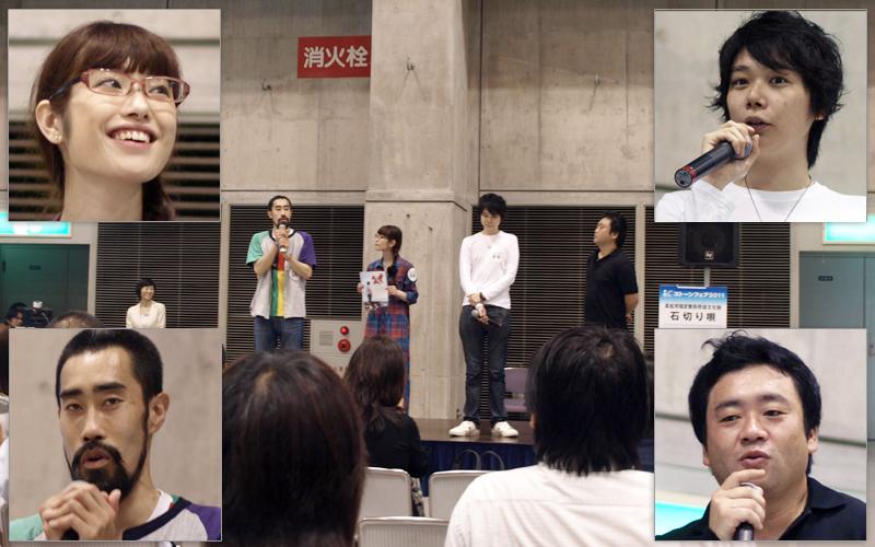 監督、佐藤さん、小野さん、なすびさんによるトークショー