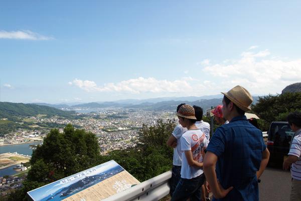 屋島からの景色を楽しみつつ、その空気感を記憶中。。。