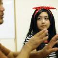 リボンがよく似合う五郎の娘役、野上さん