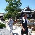 洲崎寺を下見中