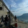 撮影:屋島を背に