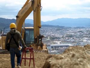 遙か向こうに高松市を望みつつ・・・
