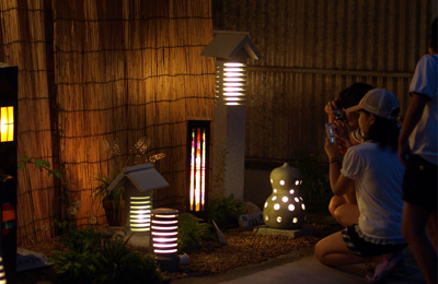 石あかりロード(2011年撮影)