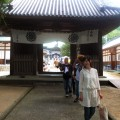 お寺の前にある展望台へ