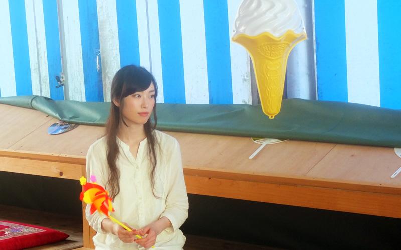 風車とソフトクリームの模型