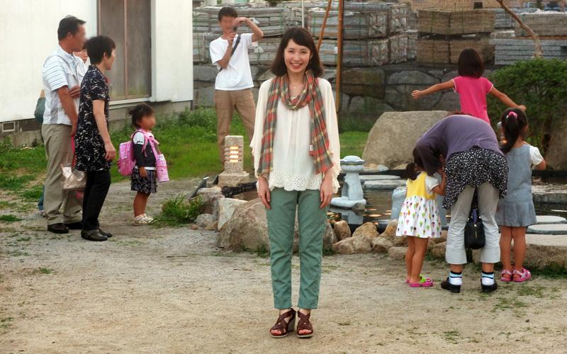 花澄さんが一年ぶりに石あかりロードに戻ってきた
