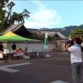 洲崎寺と庵治の山と空